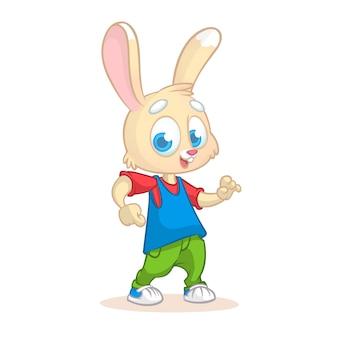 Illustration de lapin drôle de dessin animé