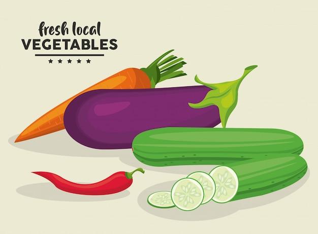 Illustration de légumes frais locaux