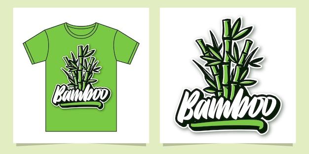 Illustration de lettrage à la main en bambou pour vêtements