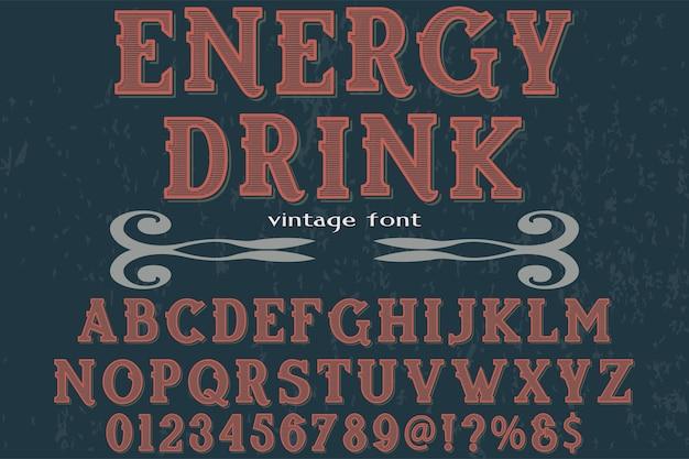 Illustration de lettrage vintage