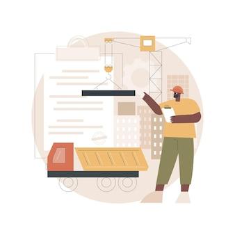 Illustration De Licence Pour L'industrie Du Bâtiment Vecteur Premium