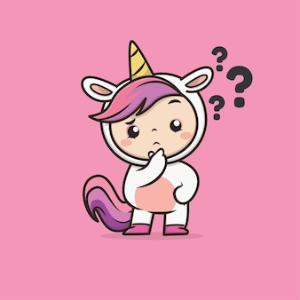Illustration de licorne animale mignonne