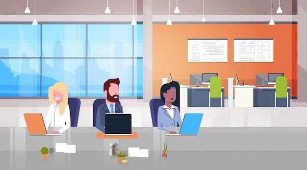 Illustration de lieu de travail de coworking