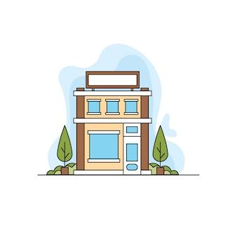 Illustration de ligne de bureau de publicité