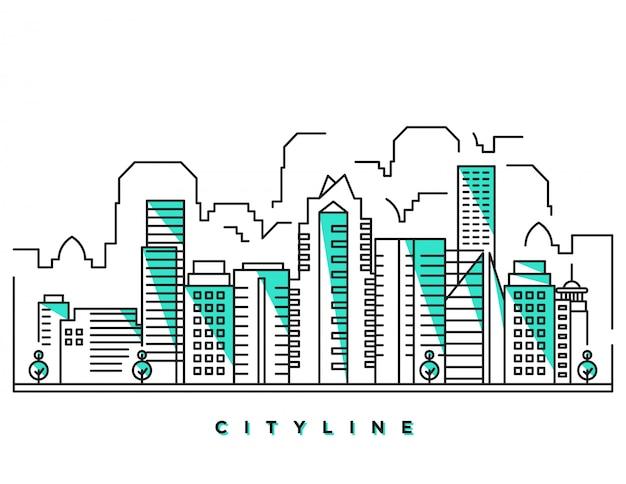 Illustration de la ligne de ville