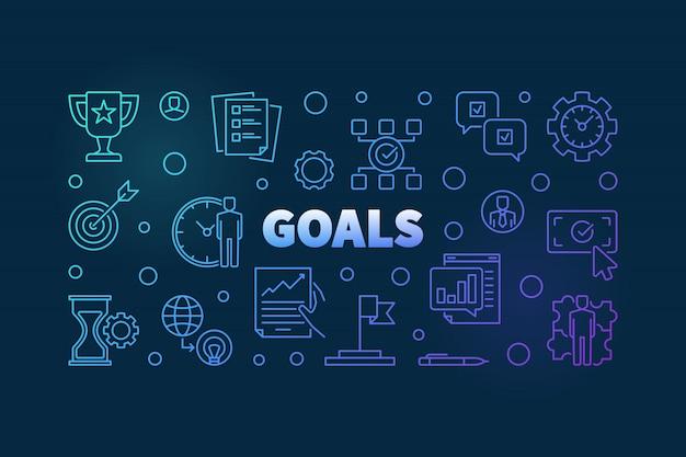 Illustration linéaire des objectifs.