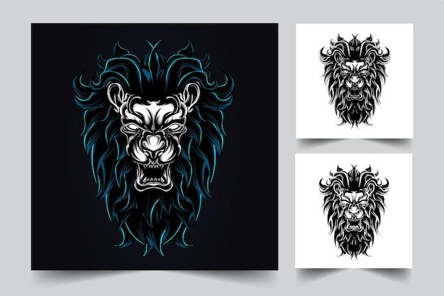 Illustration de lion en colère