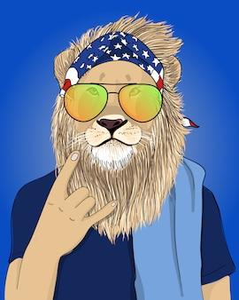 Illustration de lion cool