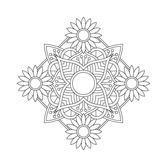 Illustration de livre à colorier arabesque mandala
