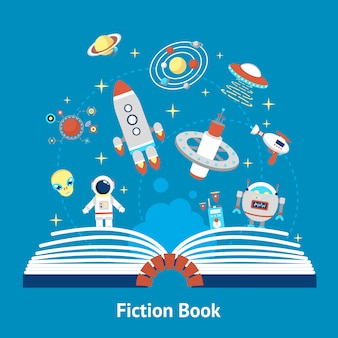 Illustration de livre de fiction