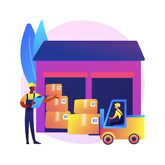 Illustration de la logistique de l'entrepôt
