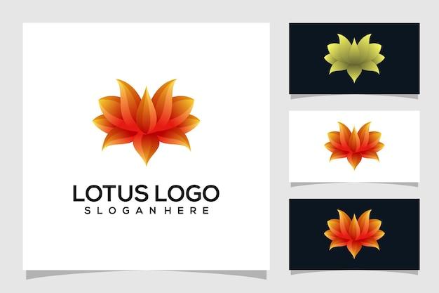 Illustration de logo abstrait lotus