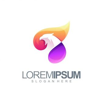 Illustration de logo aigle coloré