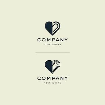 Illustration De Logo D'amour Vecteur Premium