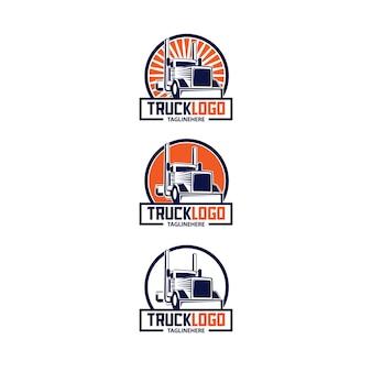 Illustration de logo de camion