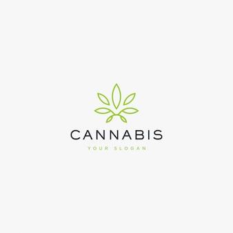 Illustration de logo de cannabis