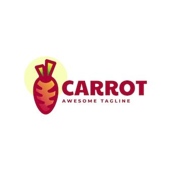 Illustration logo carotte dégradé style coloré