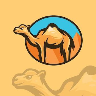 Illustration de logo de chameau