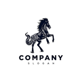 Illustration de logo de cheval fort