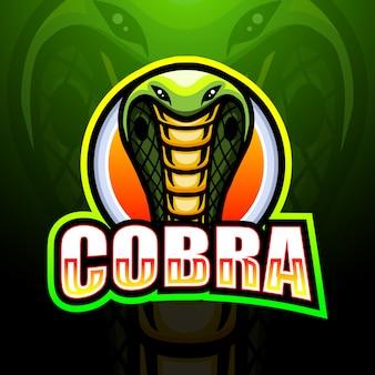 Illustration de logo cobra mascot esport