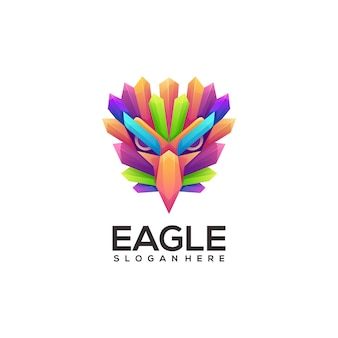 Illustration de logo coloré aigle