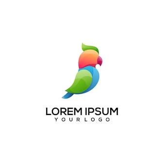 Illustration de logo coloré d'oiseau