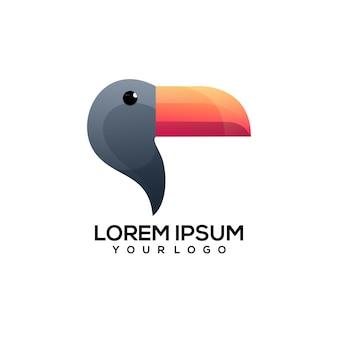 Illustration de logo coloré toucan