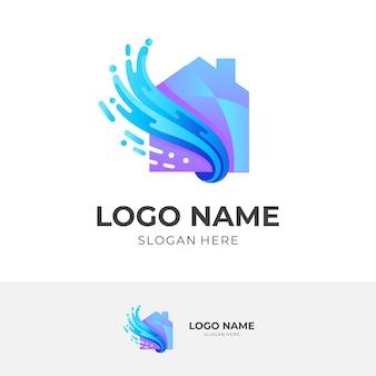 Illustration de logo de conception de maison abstraite, icônes de l'immobilier