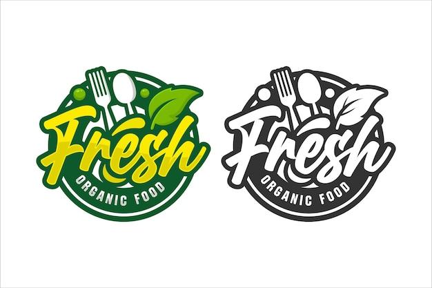 Illustration De Logo De Conception De Nourriture Fraîche Isolée Vecteur Premium