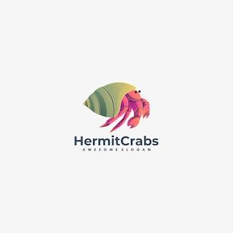 Illustration logo crabes hermites