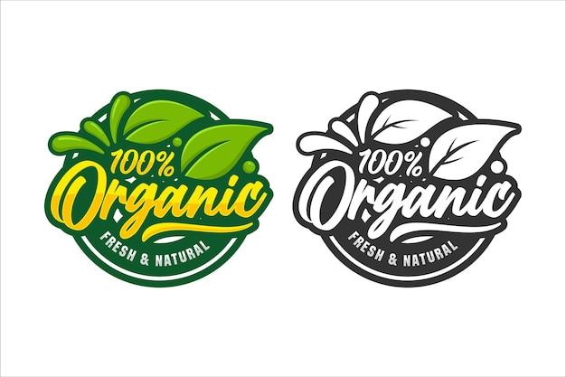 Illustration De Logo Design Naturel Frais Bio Isolée Vecteur Premium