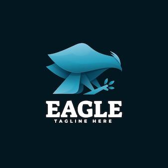 Illustration de logo eagle gradient style coloré.