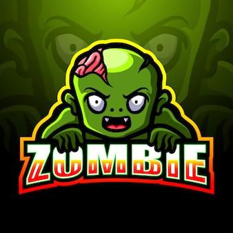 Illustration de logo esport mascotte zombie