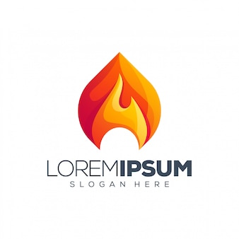 Illustration de logo de feu
