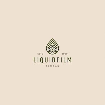 Illustration de logo de film liquide