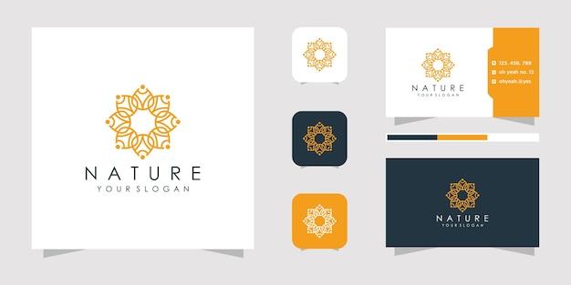 Illustration de logo fleur abstraite