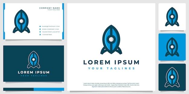 Illustration de logo de fusée minimaliste moderne