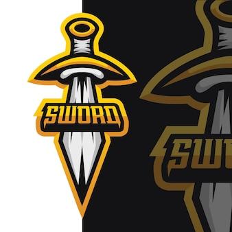 Illustration de logo de jeu d'épée