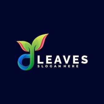 Illustration de logo laisse un style coloré dégradé.