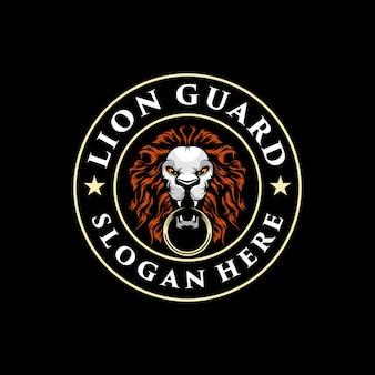 Illustration de logo lion génial