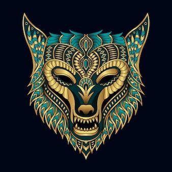 Illustration de logo loup créatif dessiné à la main