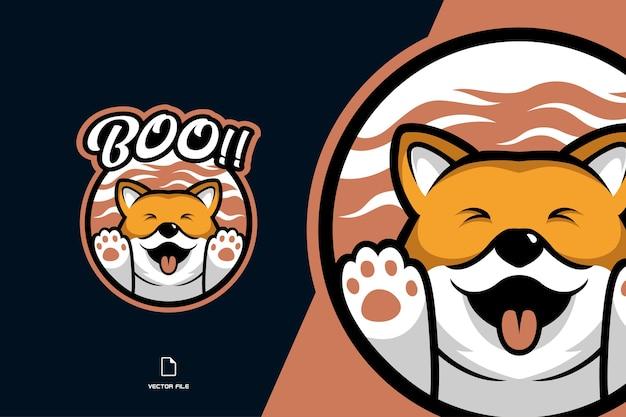 Illustration de logo de mascotte de renard mignon