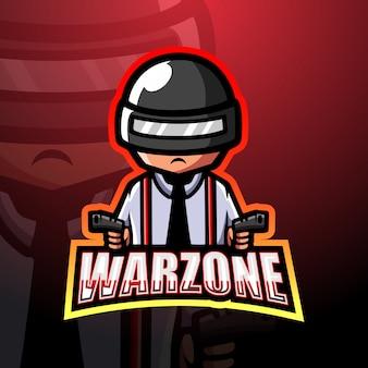Illustration de logo mascotte warzone esport