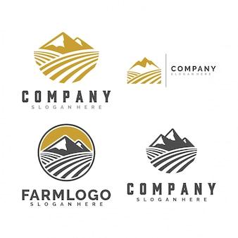 Illustration logo montagne