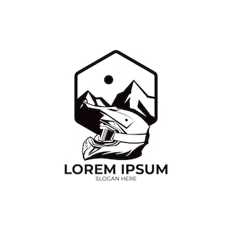 Illustration de logo de motocross