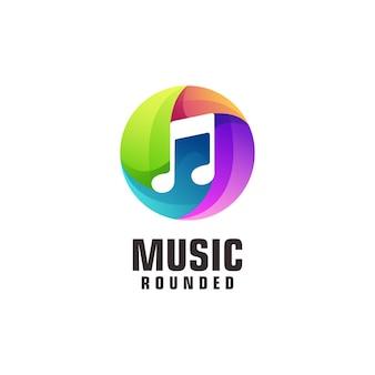 Illustration de logo de musique colorée