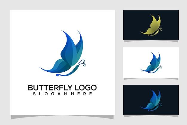 Illustration de logo papillon abstrait