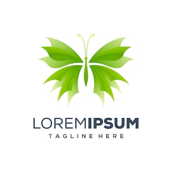 Illustration logo papillon
