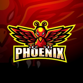 Illustration de logo phoenix mascotte esport