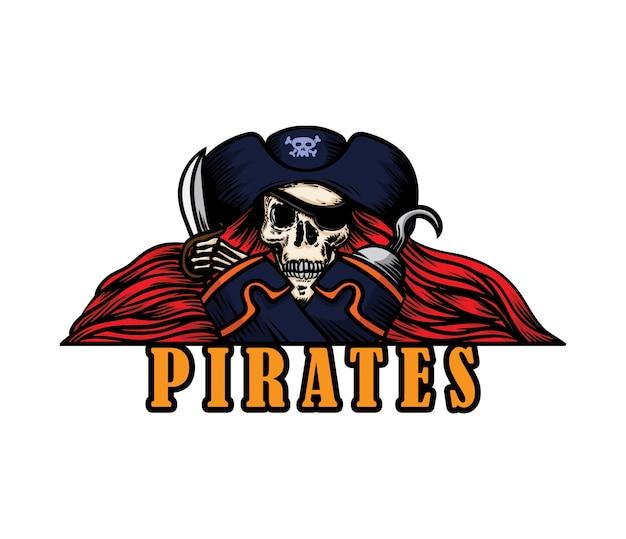 Illustration de logo de pirates